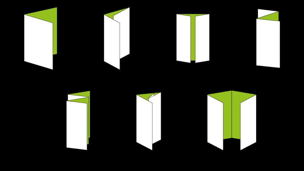 leaflet fold diagrams for printing