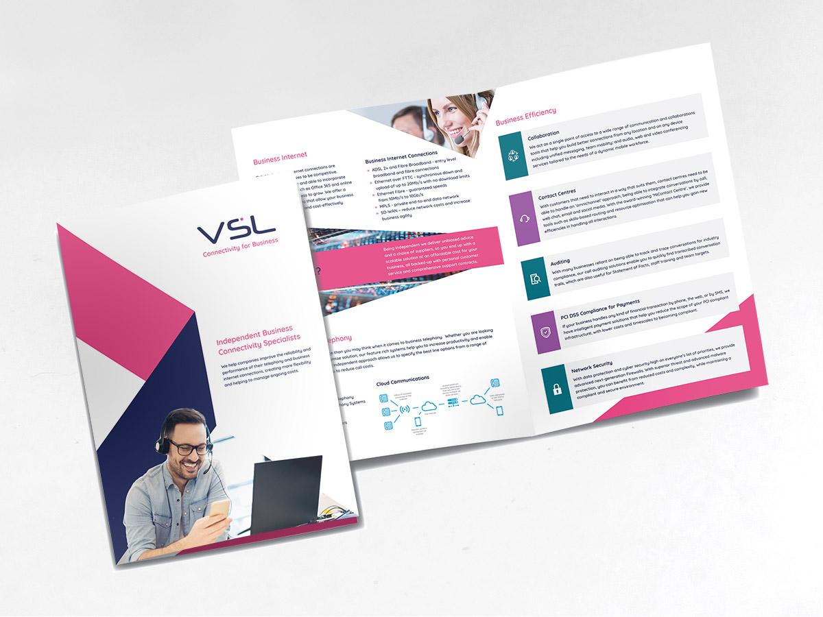 A4 printed brochures for VSL