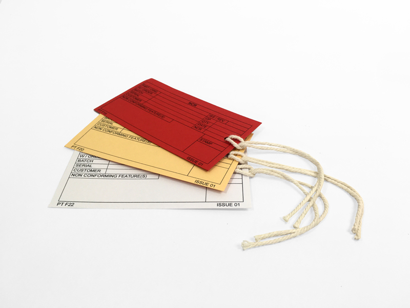 Printed Tags with String