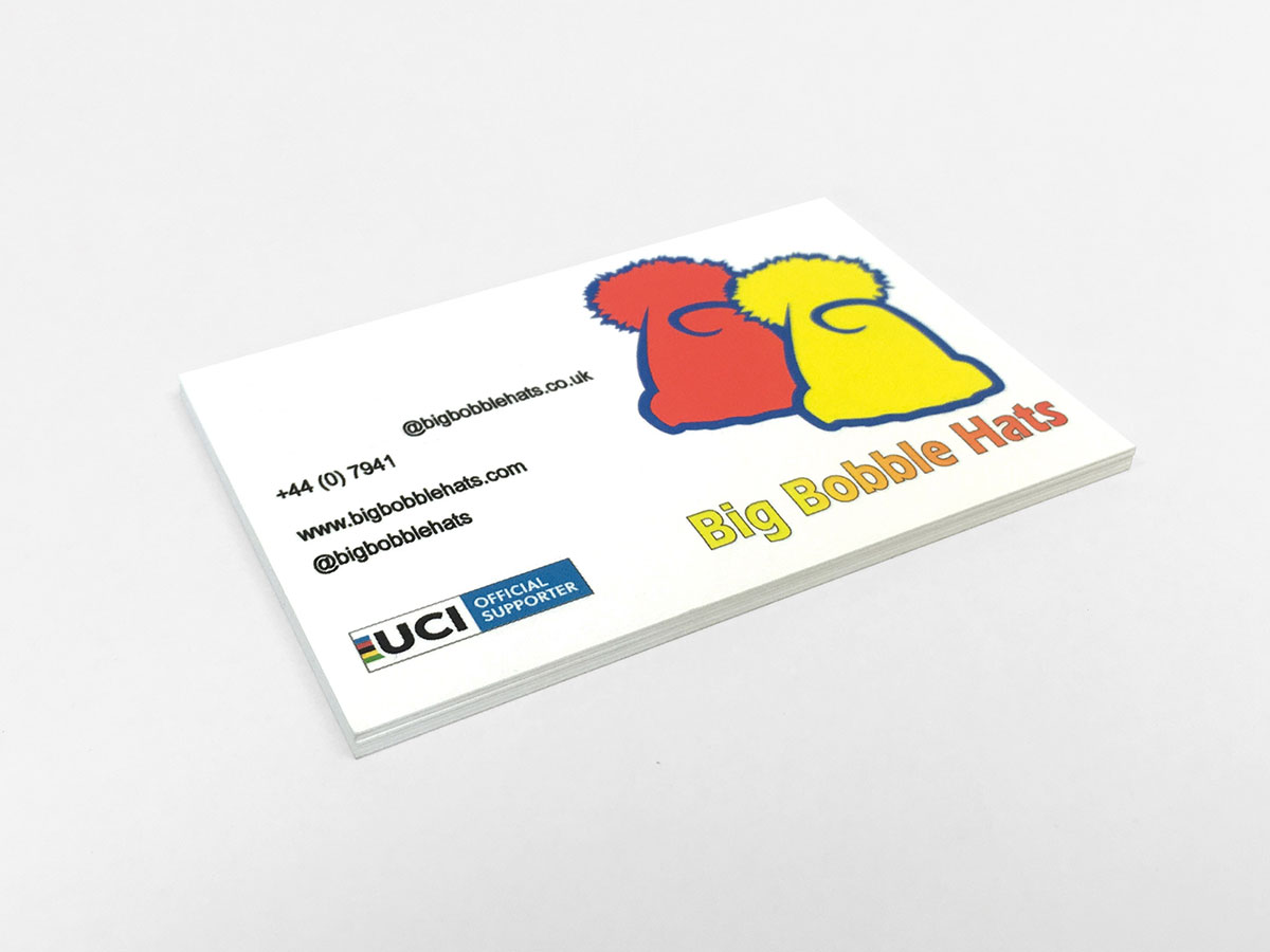 big bobble hat business card printing