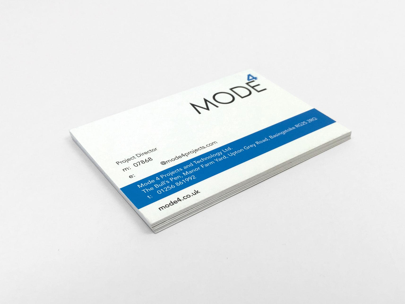 mode4 business card printing in Basingstoke