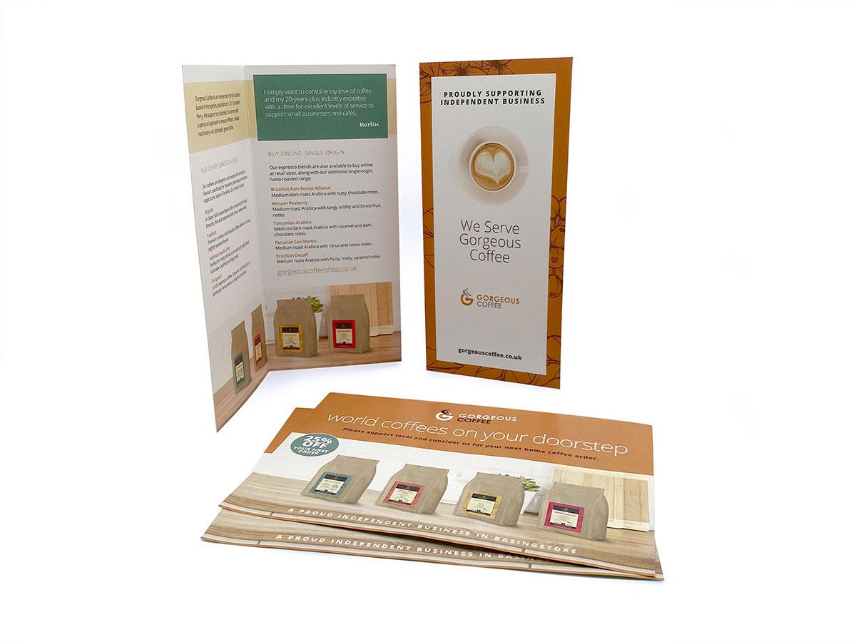 gorgeous coffee basingstoke leaflet printing